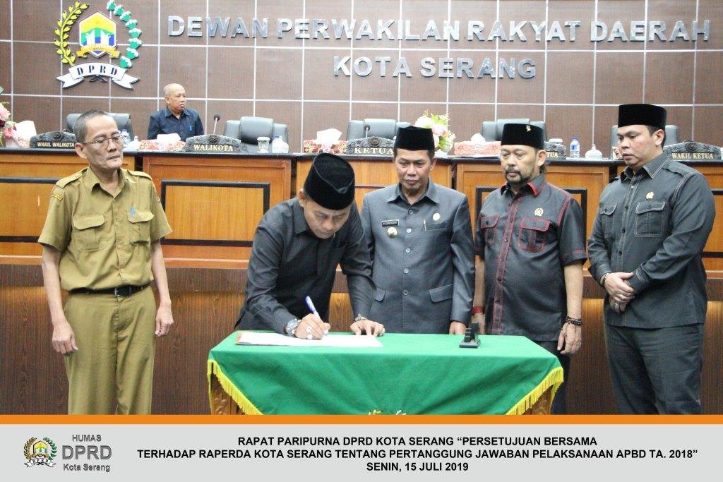 Raperda Tentang Pertanggung Jawaban Pelaksanaan APBD TA. 2018