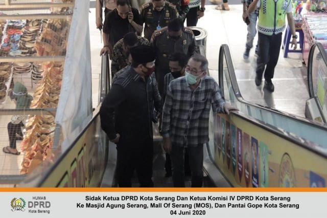 04 Juni 2020 Sidak Ketua DPRD Kota Serang Dan Ketua Komisi IV DPRD Kota Serang Ke Masjid Agung, Mall, Dan Pantai Gope Kota Serang