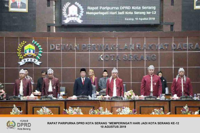 """Rapat Paripurna DPRD Kota Serang """"Memperingati HUT Kota Serang Ke-12"""""""