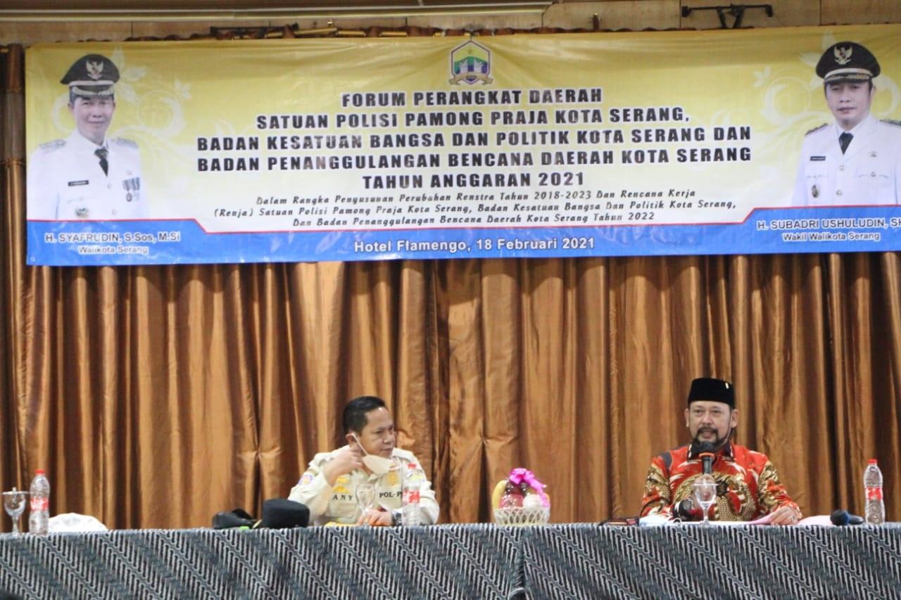 Forum Renstra Dan Renja Pol PP Kota Serang